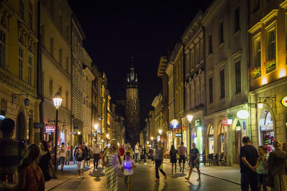Улица в центре Кракова.