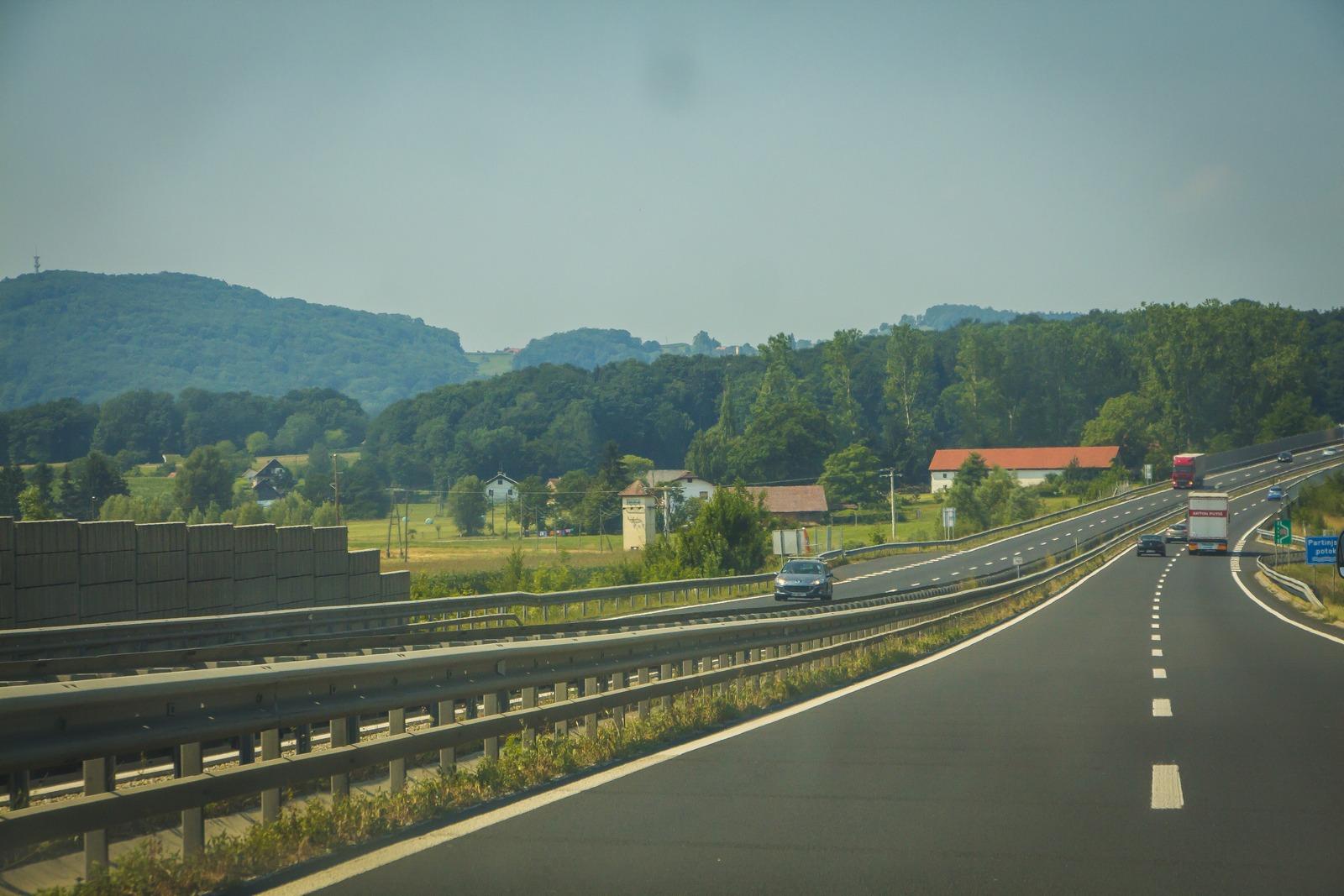 Словения. Автобан.