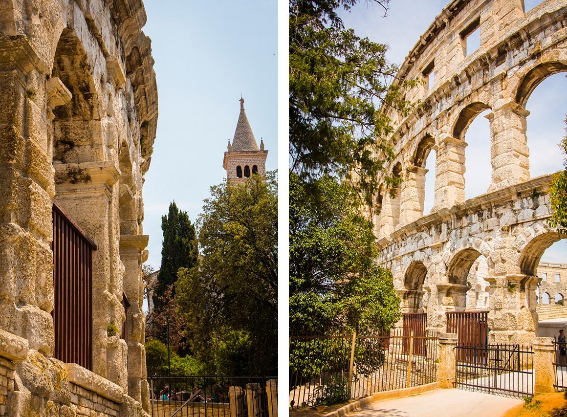 Достопримечательности Хорватии, Истрия, Пула, Колизей.