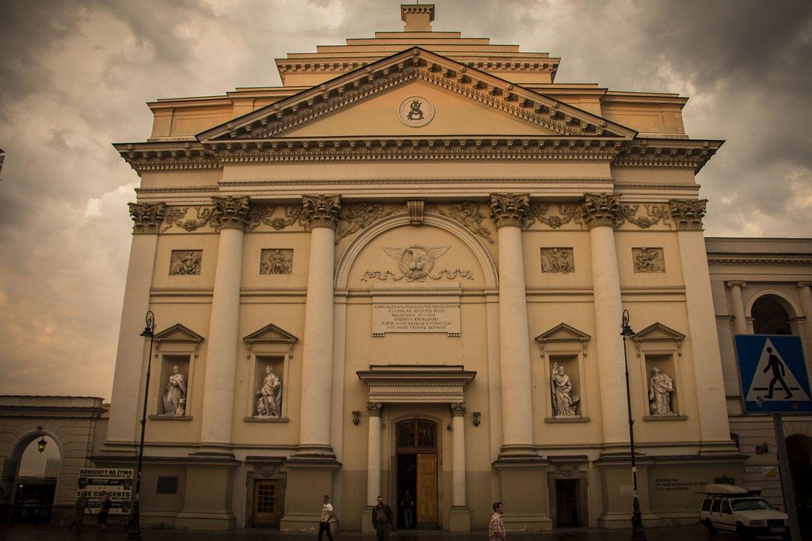 Вид на Костел Св.Анны