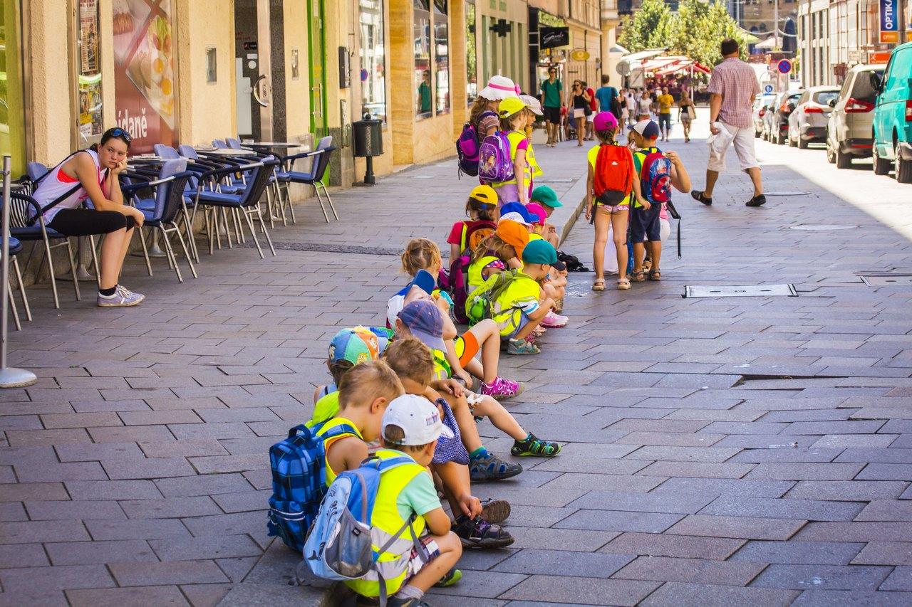 Детский сад на выгуле