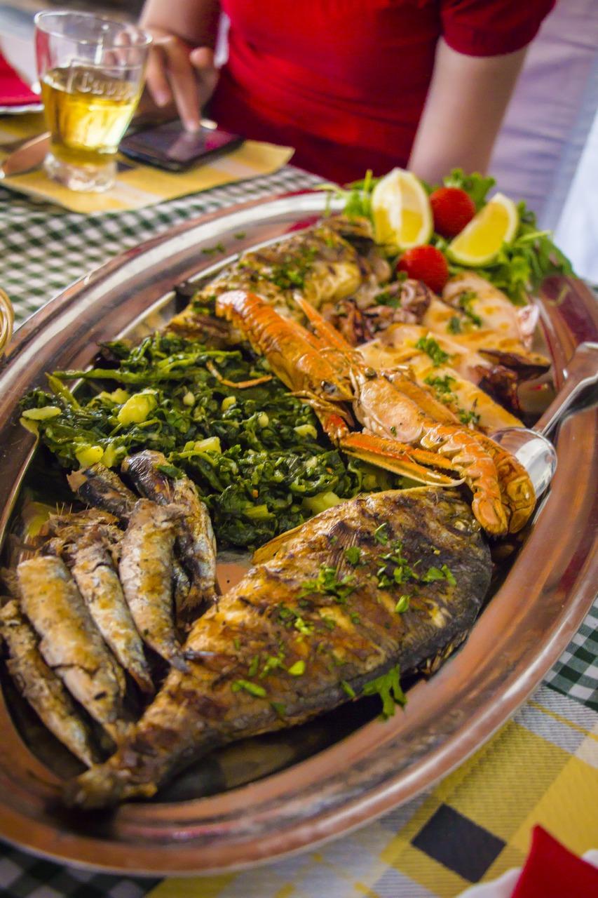 Рыбная тарелка в Хорватии