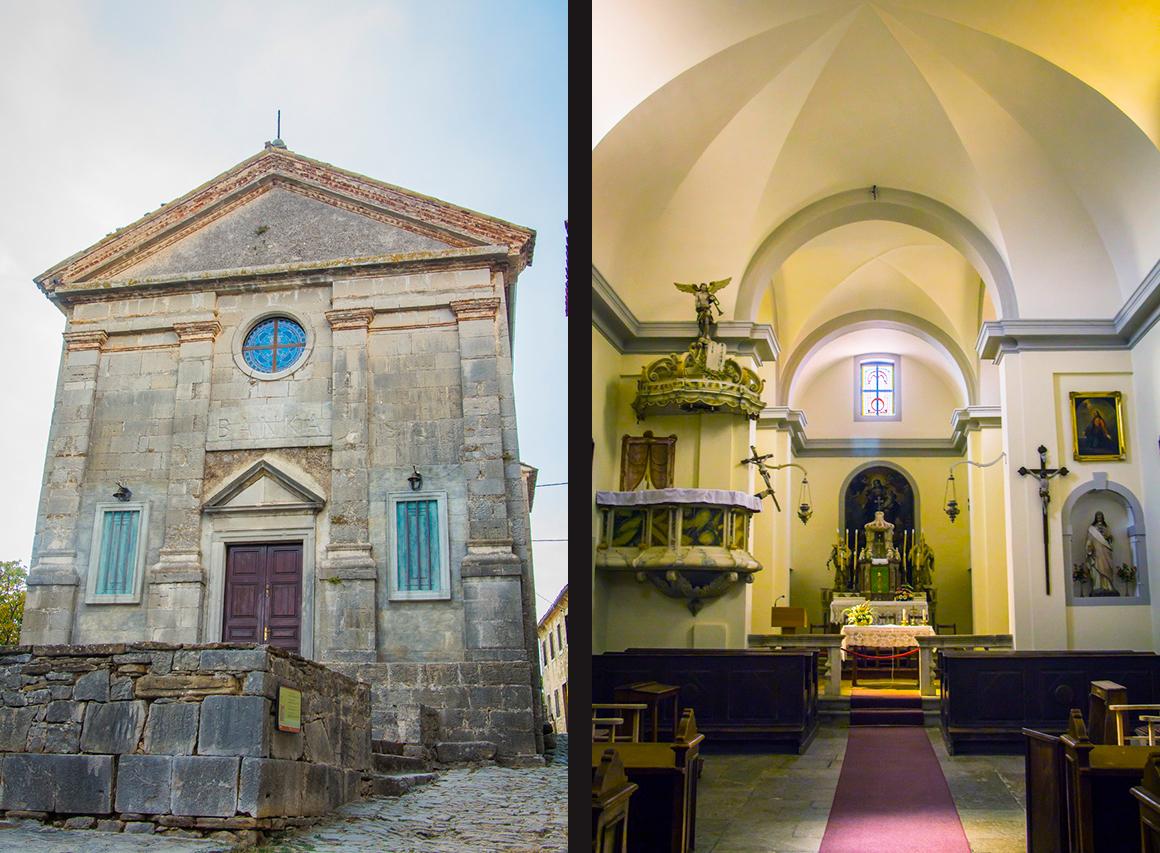 Храм Вознесения Марии. Хум, Хорватия