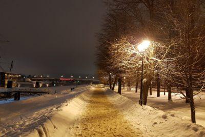 Вечерний зимний Новгород